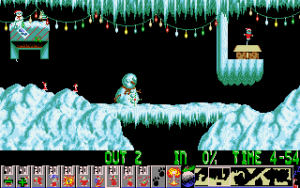 Xmas lemmings screenshot 2